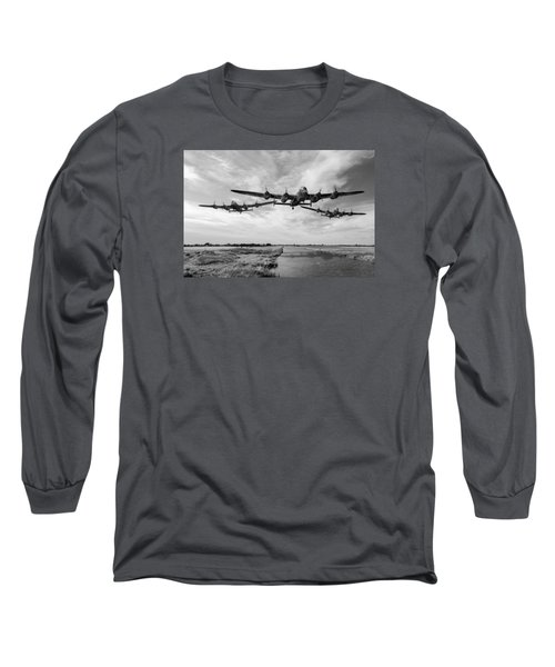 Dambusters Practising Low Level Flying Bw Version Long Sleeve T-Shirt