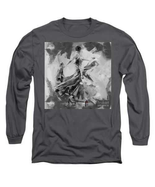 Long Sleeve T-Shirt featuring the painting Dance Flamenco 01 by Gull G