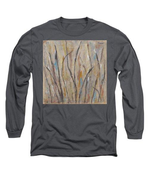Dancing Cattails I Long Sleeve T-Shirt by Trish Toro