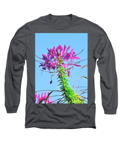 Long Sleeve T-Shirt featuring the photograph Dancing Cleome by Debbie Stahre