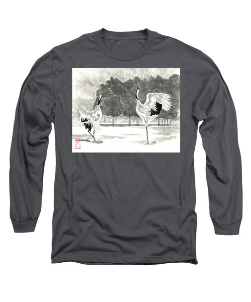 Dancing Crane II Long Sleeve T-Shirt
