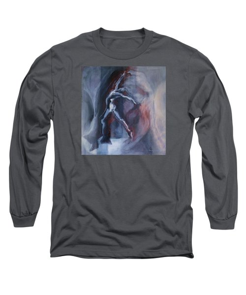 Dancing Figure Long Sleeve T-Shirt by Denise Fulmer