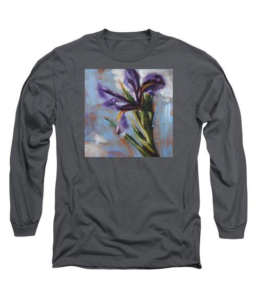 Dancing Iris Long Sleeve T-Shirt by Tracy Male