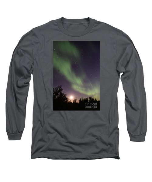 Long Sleeve T-Shirt featuring the photograph Dancing With The Moon by Larry Ricker
