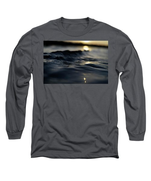 Long Sleeve T-Shirt featuring the photograph Dark Atlantic Traces by Laura Fasulo
