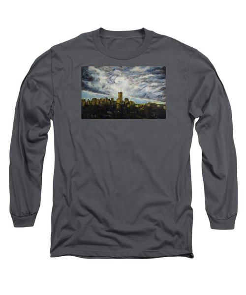 Dark Clouds Approaching 2 Long Sleeve T-Shirt by Ron Richard Baviello