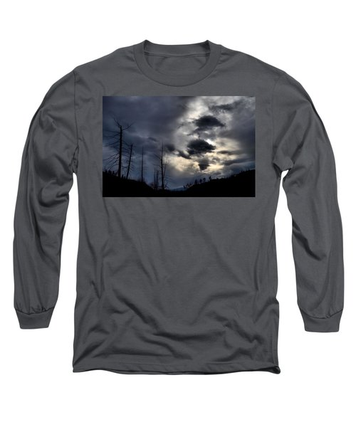 Long Sleeve T-Shirt featuring the photograph Dark Clouds by Tara Turner