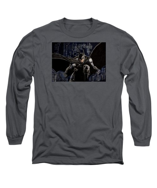 Dark Knight Long Sleeve T-Shirt by Sylvia Thornton