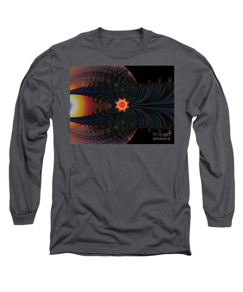 Dark Space Fractal  Long Sleeve T-Shirt