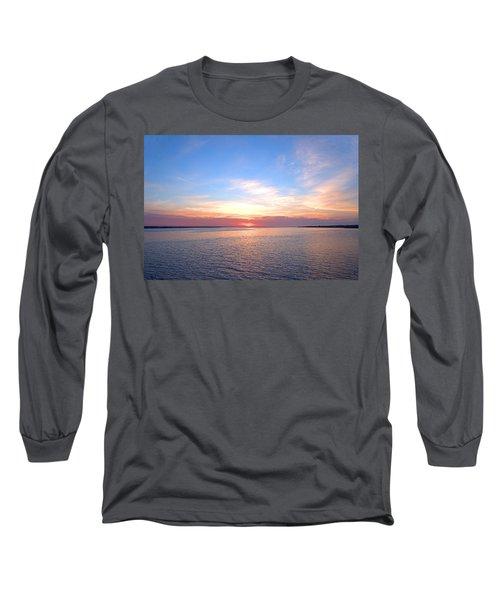 Dark Sunrise I I Long Sleeve T-Shirt by  Newwwman