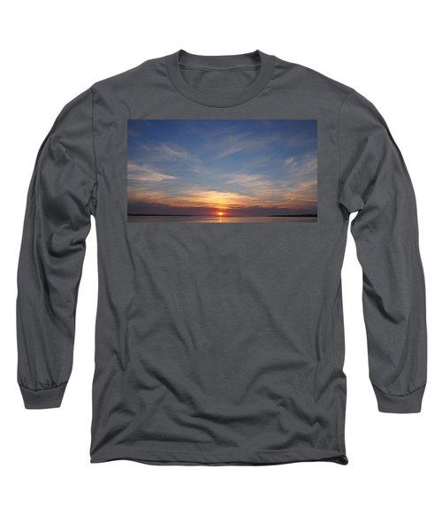 Long Sleeve T-Shirt featuring the photograph Dark Sunrise by  Newwwman