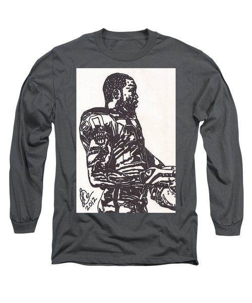 Long Sleeve T-Shirt featuring the drawing Darren Mcfadden 1 by Jeremiah Colley