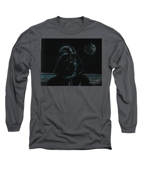 Long Sleeve T-Shirt featuring the drawing Darth Vader Study by Meagan  Visser