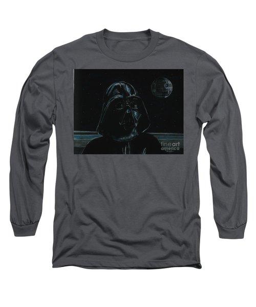 Darth Vader Study Long Sleeve T-Shirt by Meagan  Visser