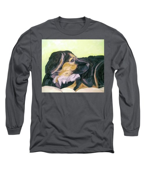 Long Sleeve T-Shirt featuring the painting Date With Paint Sept 18 1 by Ania Milo