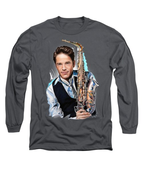 Dave Koz Long Sleeve T-Shirt by Melanie D