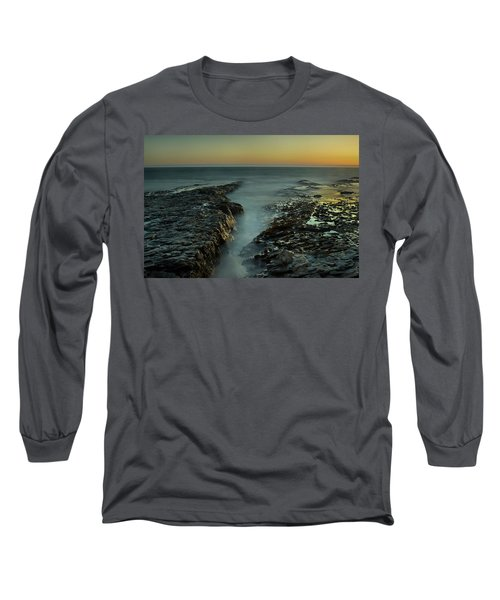Davenport Landing Beach At Golden Hour Long Sleeve T-Shirt