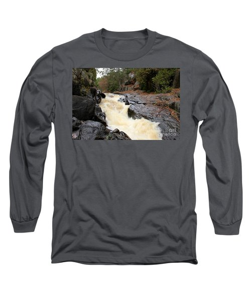 Long Sleeve T-Shirt featuring the photograph Dave's Falls #7284 by Mark J Seefeldt