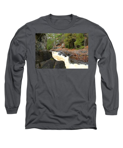 Long Sleeve T-Shirt featuring the photograph Dave's Falls #7311 by Mark J Seefeldt