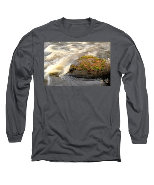 Long Sleeve T-Shirt featuring the photograph Dave's Falls #7442 by Mark J Seefeldt