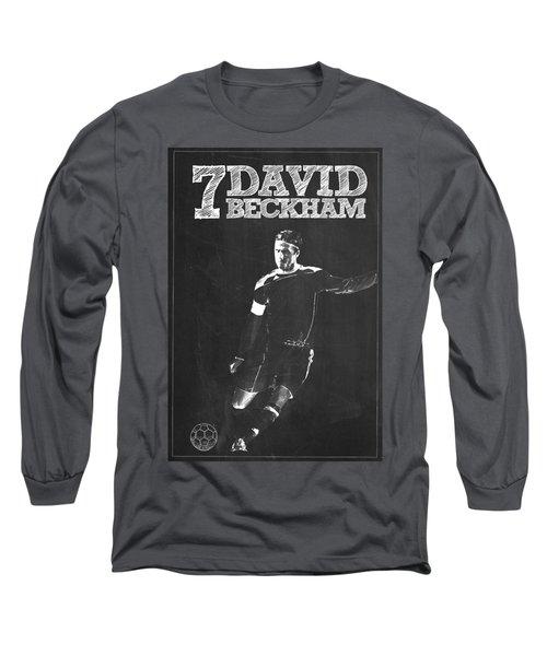 David Beckham Long Sleeve T-Shirt by Semih Yurdabak