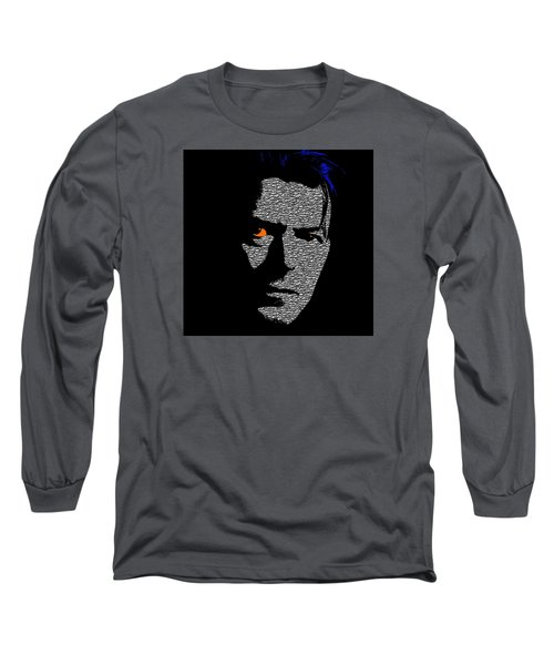 David Bowie 1 Long Sleeve T-Shirt by Emme Pons
