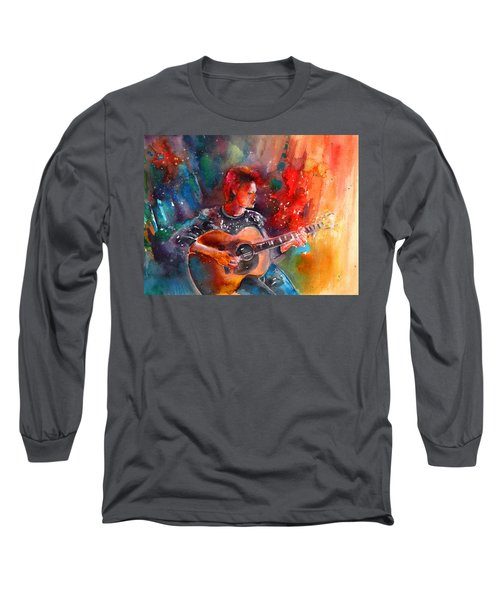 David Bowie In Space Oddity Long Sleeve T-Shirt