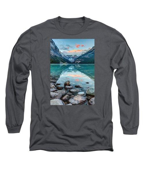 Dawn At Lake Louise Long Sleeve T-Shirt