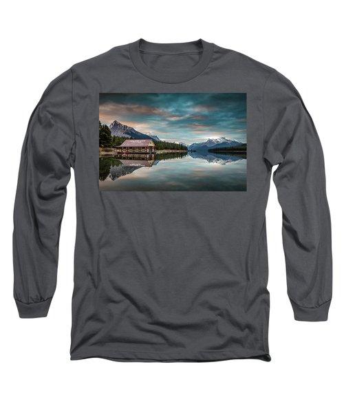 Dawn At Maligne Lake Long Sleeve T-Shirt