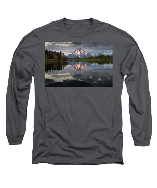 Dawn At Oxbow Bend Long Sleeve T-Shirt