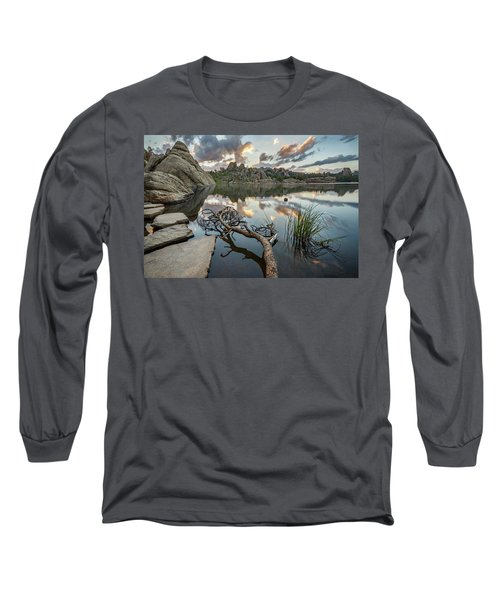 Long Sleeve T-Shirt featuring the photograph Dawn At Sylvan Lake by Adam Romanowicz