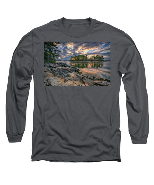 Dawn At Wolfe's Neck Woods Long Sleeve T-Shirt