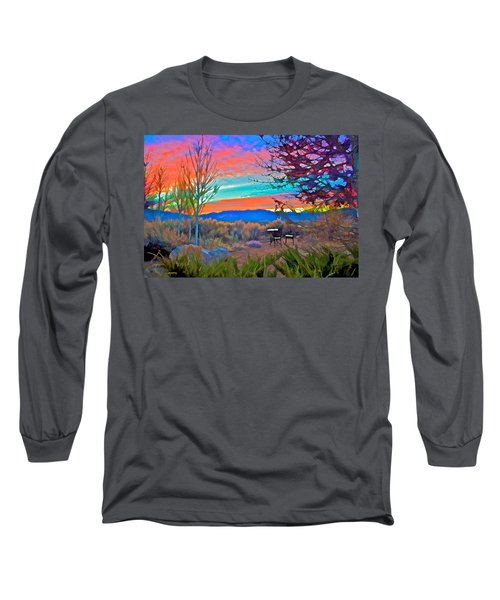 Dawn In El Prado  Long Sleeve T-Shirt