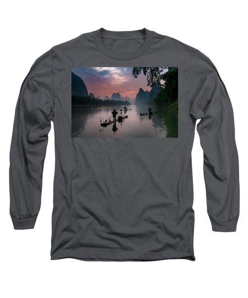 Waiting For Sunrise On Lee River. Long Sleeve T-Shirt