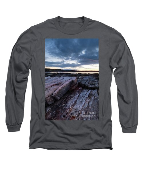 Dawn On The Shore In Southwest Harbor, Maine  #40140-40142 Long Sleeve T-Shirt