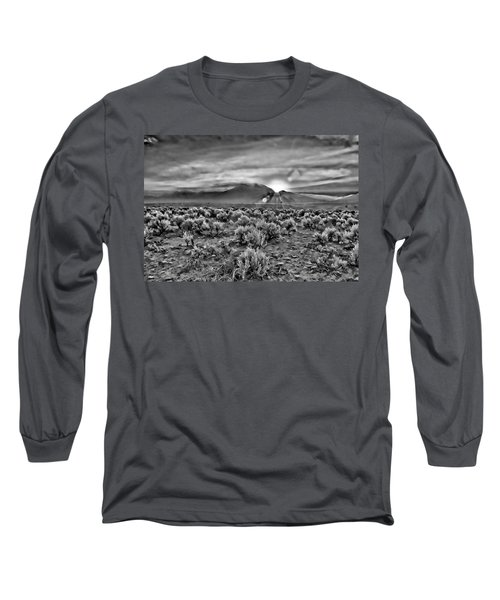 Dawn Over Magic Taos In B-w Long Sleeve T-Shirt