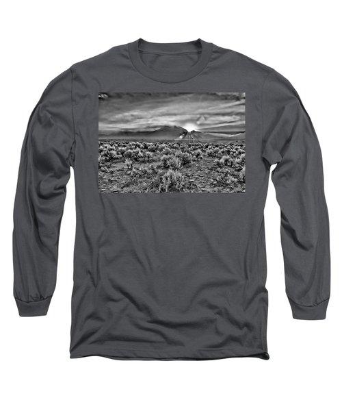 Dawn Over Magic Taos In B-w Long Sleeve T-Shirt