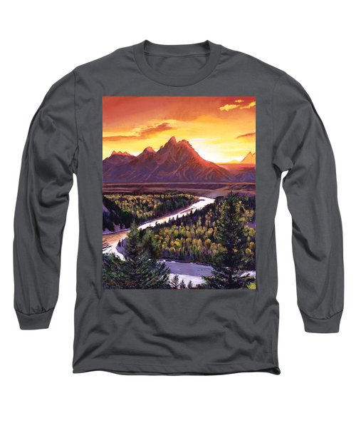 Dawn Over The Grand Tetons Long Sleeve T-Shirt