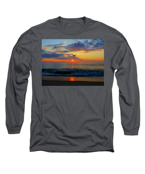 Dawning Flight Long Sleeve T-Shirt by Dianne Cowen