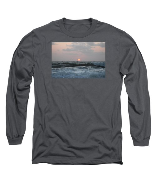 Dawn's Crashing Seas Long Sleeve T-Shirt by Robert Banach
