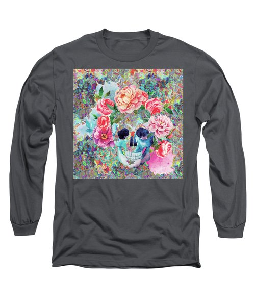 Day Of The Dead Watercolor Long Sleeve T-Shirt