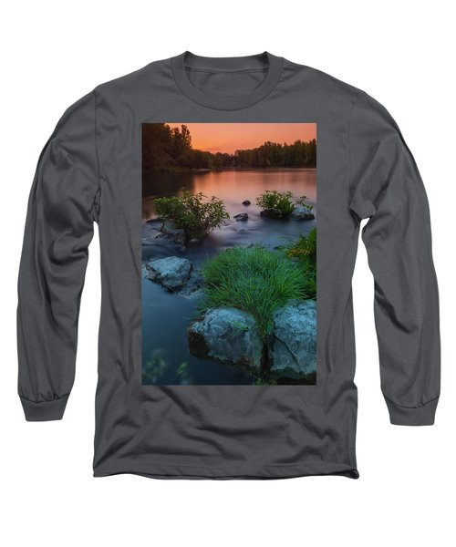 Daybreak Over The Old Reverbed Long Sleeve T-Shirt