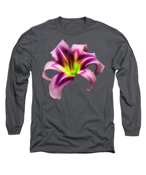 Daylily Star  Long Sleeve T-Shirt by MTBobbins Photography