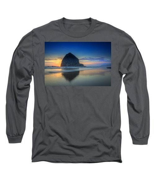 Day's End In Cannon Beach Long Sleeve T-Shirt
