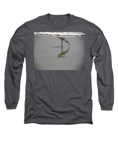 Daytona Beach Shorebird Long Sleeve T-Shirt by Chris Mercer