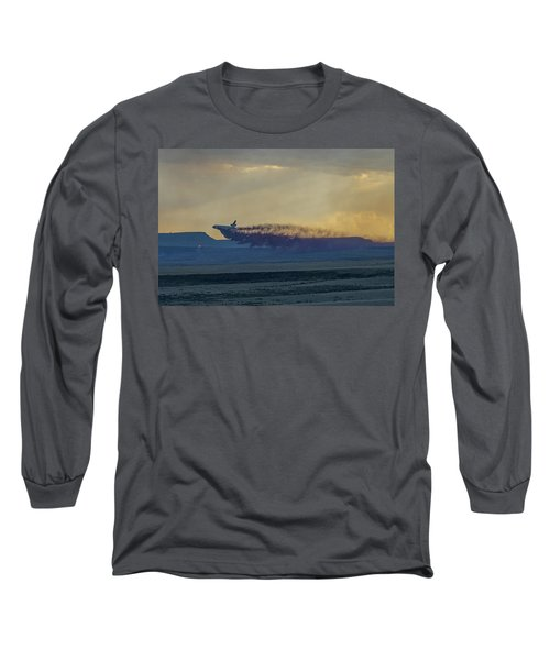 Long Sleeve T-Shirt featuring the photograph Dc-10's First Retardant Drop In South Dakota by Bill Gabbert