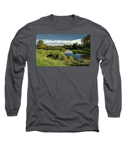 De Boville Slough At Pitt River Dike Long Sleeve T-Shirt