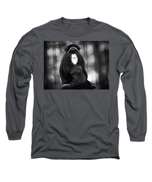 De Brazza's Monkey Long Sleeve T-Shirt