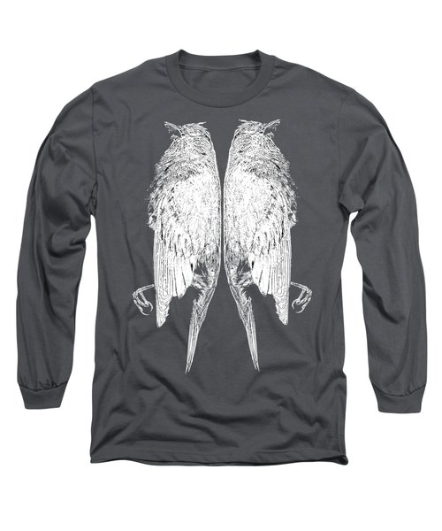 Dead Birds Tee White Long Sleeve T-Shirt by Edward Fielding