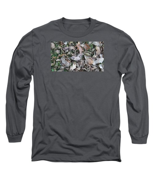 Long Sleeve T-Shirt featuring the mixed media Dead Leaves by Don Koester